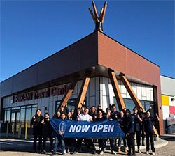 Piikani Grand Opening with Manager, Wayne Fiddler, and Staff